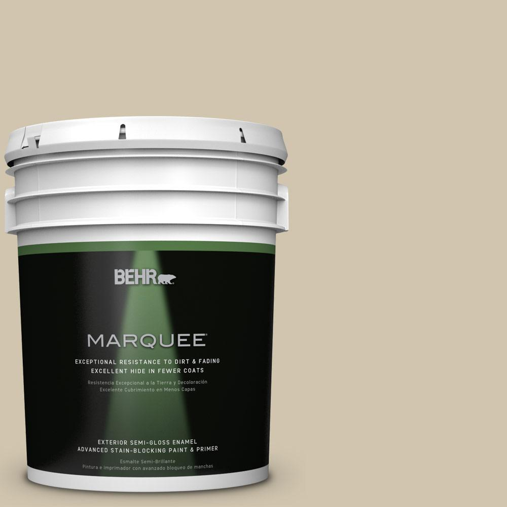 BEHR MARQUEE Home Decorators Collection 5-gal. #HDC-NT-18 Yuma Sand Semi-Gloss Enamel Exterior Paint
