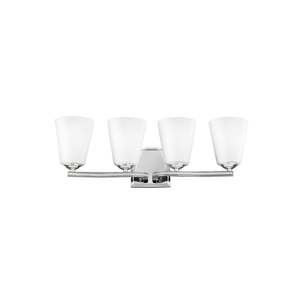 Feiss Pave 4-Light Polished Nickel Vanity Light