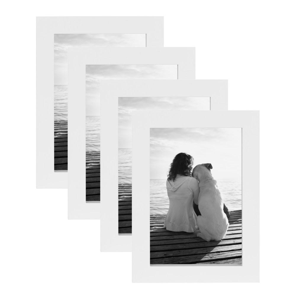 Gallery 4 in. x 6 in. White Picture Frame (Set of