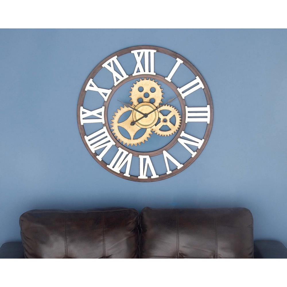 Metal Round-Shaped Wall Clock