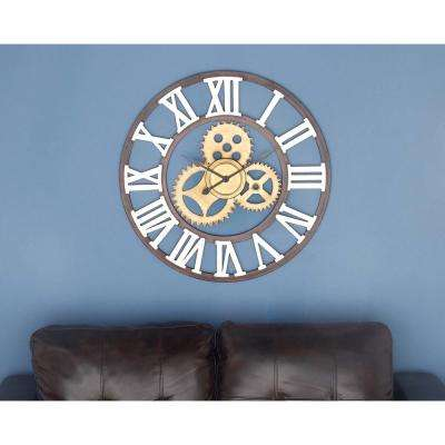 30 in. Metal Round-Shaped Wall Clock