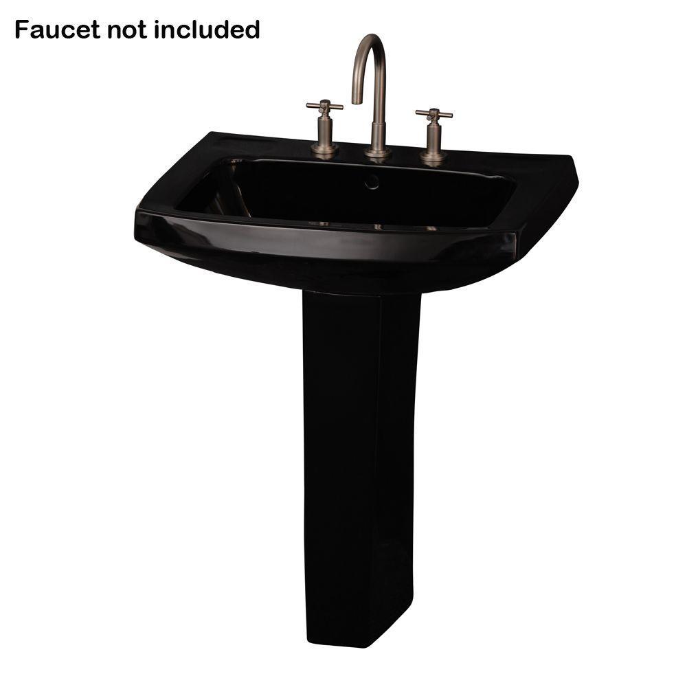 Barclay Products Galaxy Pedestal Combo Bathroom Sink in Black