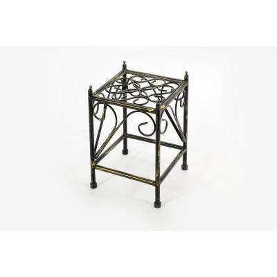 Small Lattice Square Cast-Iron Plant Stand