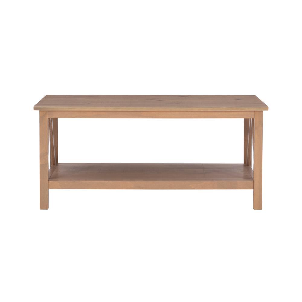 Linon Home Decor - Titian Driftwood Coffee Table