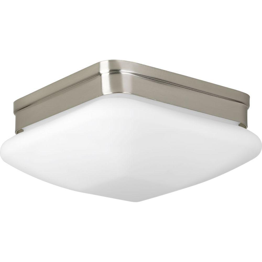 Progress Lighting Appeal Collection Light Brushed Nickel - Brushed nickel bathroom ceiling light fixtures