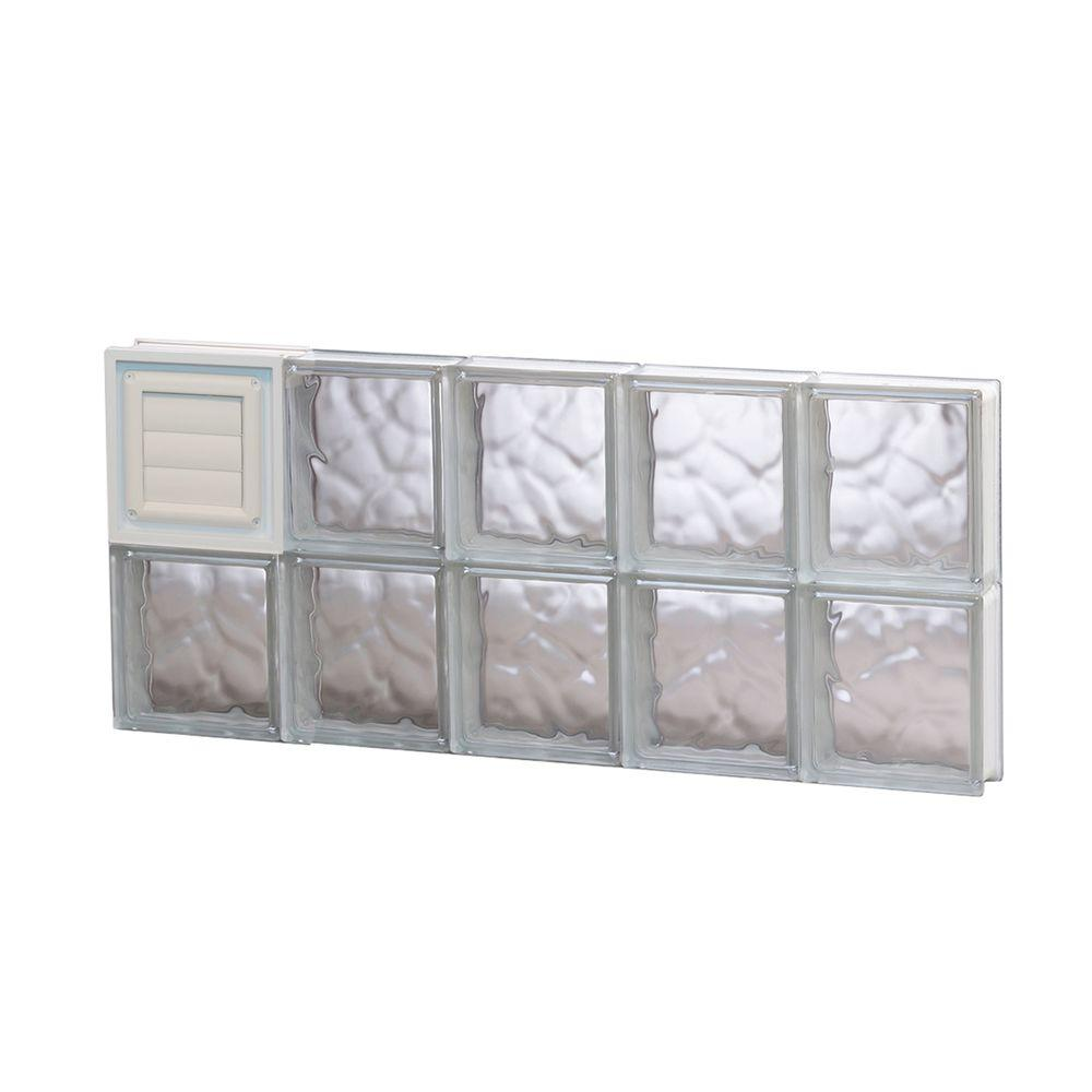 Clearly secure in x 11 5 in x in frameless for Where to buy glass block windows