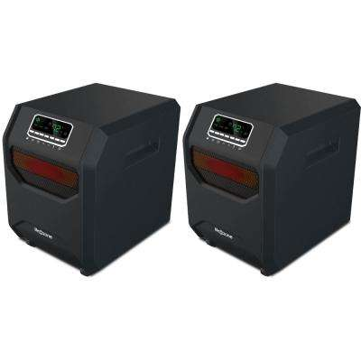 1,500-Watt 4-Element Quartz Infrared Portable Electric Room Heaters (2-Pack)