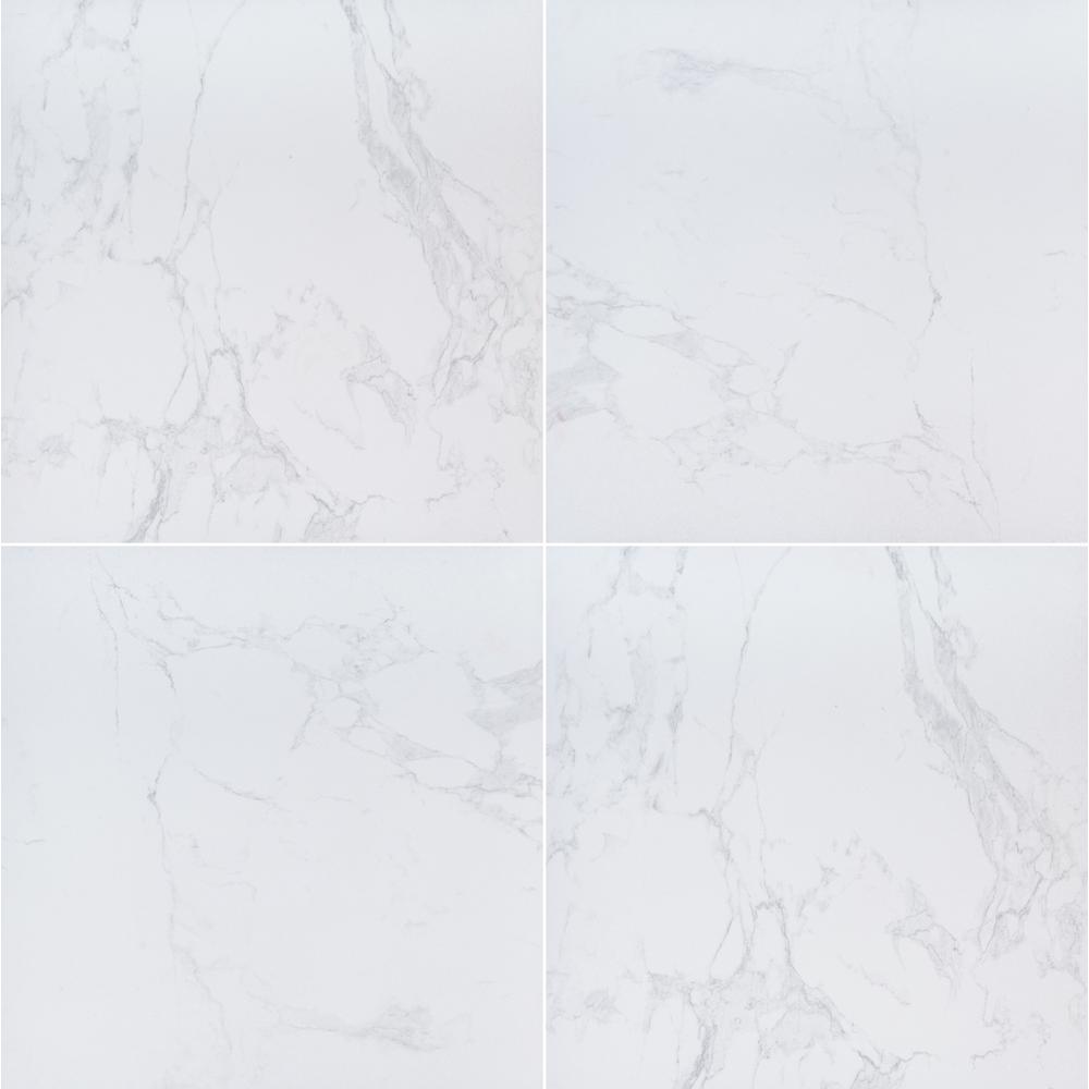 Praia Carrara 24 in. x 24 in. Matte Porcelain Paver Tile (14 pieces / 56 sq. ft. / pallet)