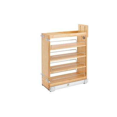 25.5 in. H x 8 in. W x 21.62 in. D Pull-Out Wood Base Cabinet Organizer with Soft-Close Slides