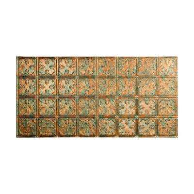 Traditional 10 2 ft. x 4 ft. Glue-up Ceiling Tile in Copper Fantasy