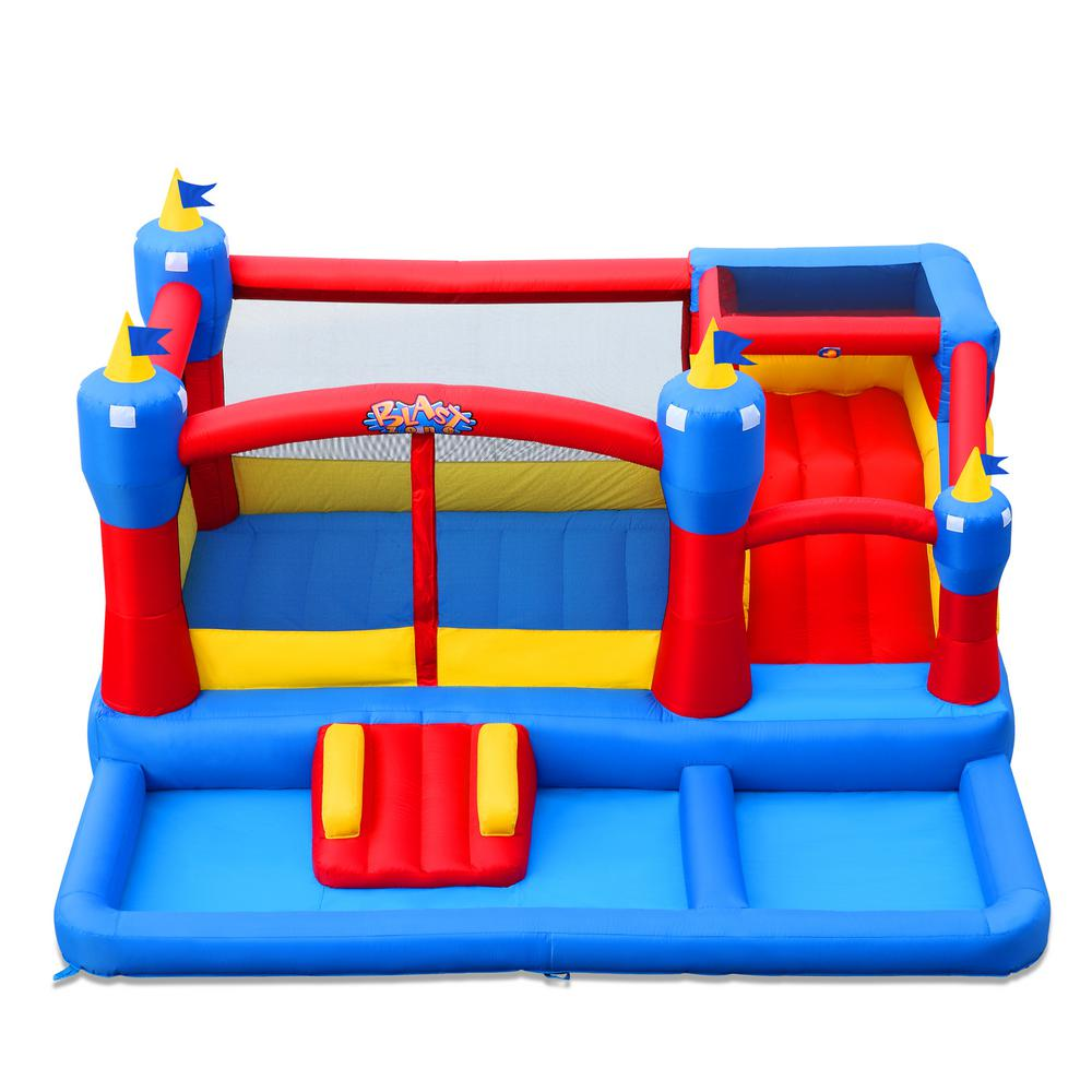 Blast Zone Misty Kingdom Bounce House, Blues