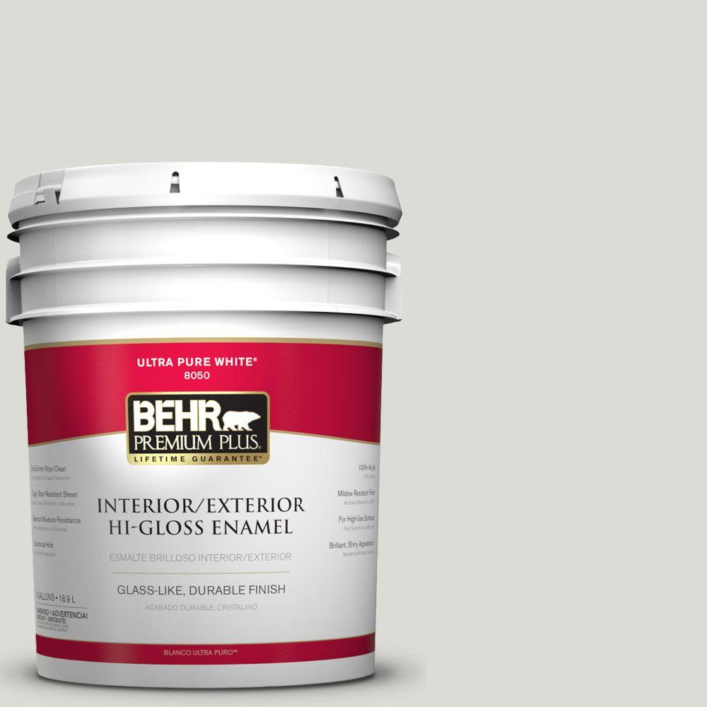 5-gal. #BWC-29 Silver Feather Hi-Gloss Enamel Interior/Exterior Paint