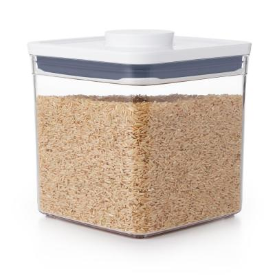 Good Grips 2.8 Qt. Big Square Short POP Container with Lid and Stackable Airtight Food Storage for Rice and More