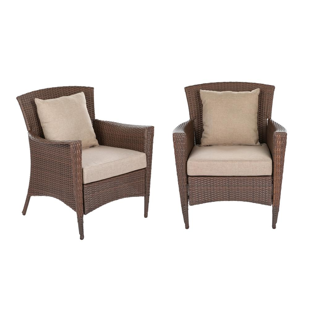 Prime W Unlimited Galleon Collection Wicker Outdoor Lounge Chair Set With Light Brown Cushions 2 Pack Caraccident5 Cool Chair Designs And Ideas Caraccident5Info