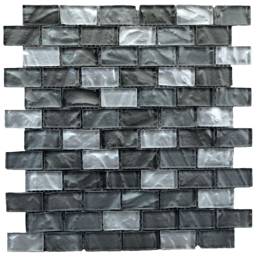 Instant Mosaic Upscale Designs Mesh-Mounted Glass Mosaic Wall Tile ...