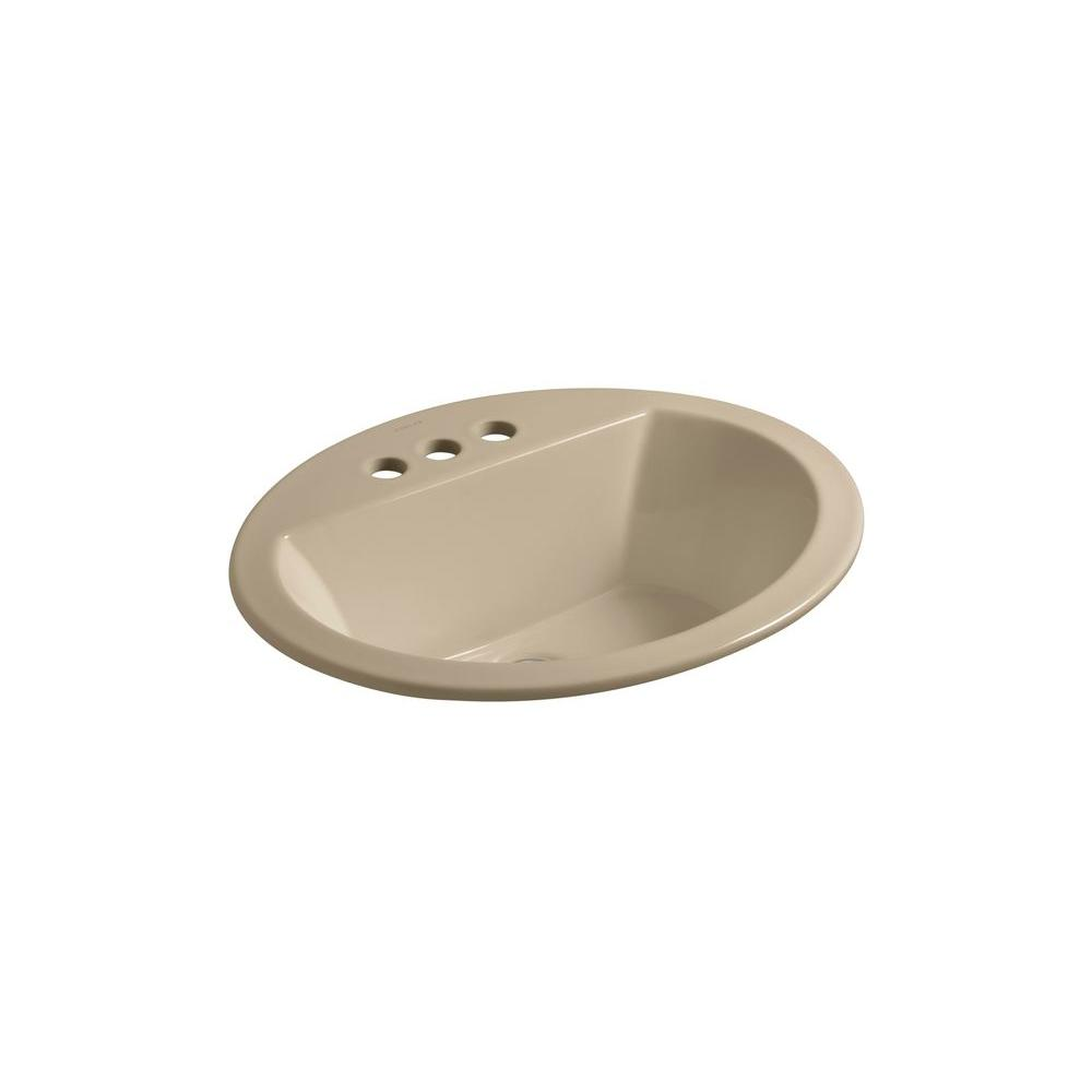 Bryant Drop-In Vitreous China Bathroom Sink in Mexican Sand with Overflow
