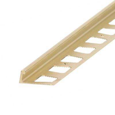 Bright Dipped Brass 1/4 in. x 96 in. L-Shape Tile Edging Strip