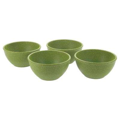 EVO Sustainable Goods 10 oz. Green Eco-Friendly Wood-Plastic Composite Bowls (Set of 4)
