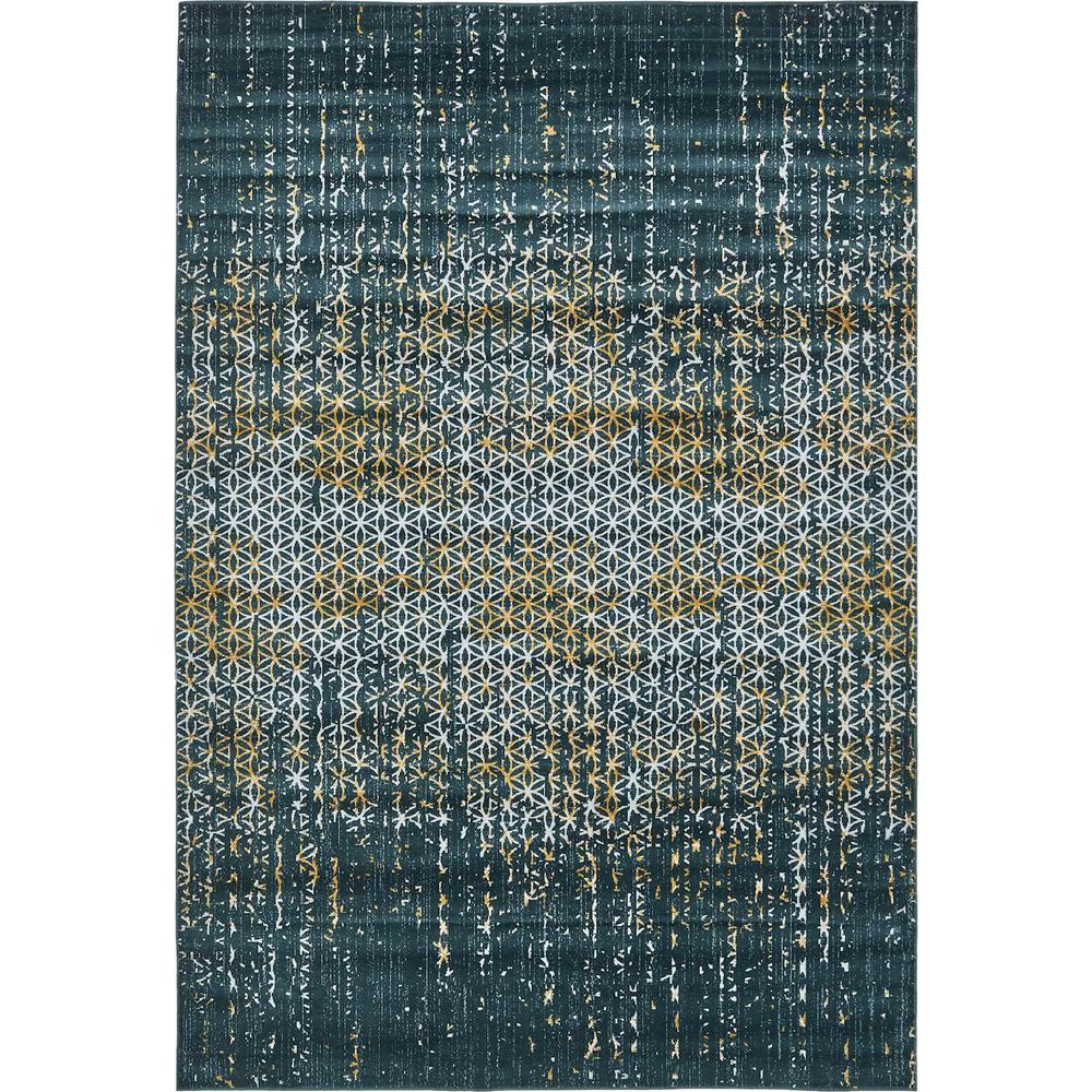 Unique Loom Mirage Teal 7 Ft. X 10 Ft. Area Rug-3130929