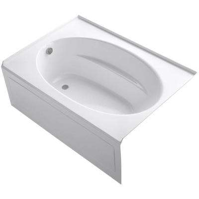 Windward 5 ft. Acrylic Left-Hand Drain with Integral  Rectangular Apron  Soaking Tub in White