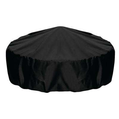 60 in. Fire Pit Cover in Black