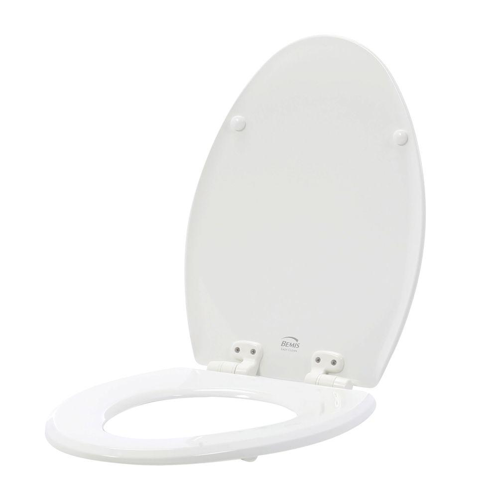 Bemis BEMIS Slow Close Lift-Off Elongated Closed Front Toilet Seat in White