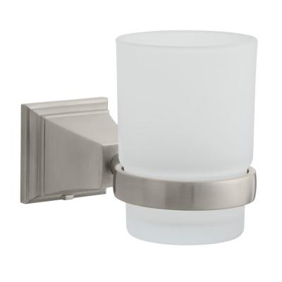 Exhibit Wall-Mounted Tumbler Holder in Brushed Nickel