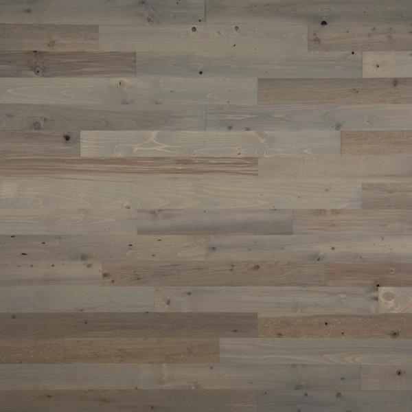 Timberchic 1/8 in. x 3 in. x 12-42 in. Peel and Stick Gray Wooden Decorative Wall Paneling (10 sq. ft./Box)