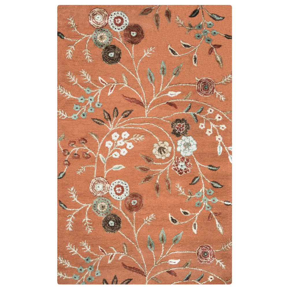 Eden Harbor Rust 8 ft. x 10 ft. Area Rug