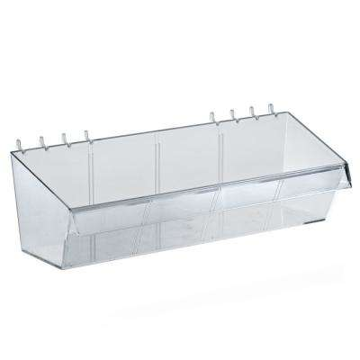 4 in. H x 13 in. W Clear Crystal Styrene Divider Bin (4-Pack)