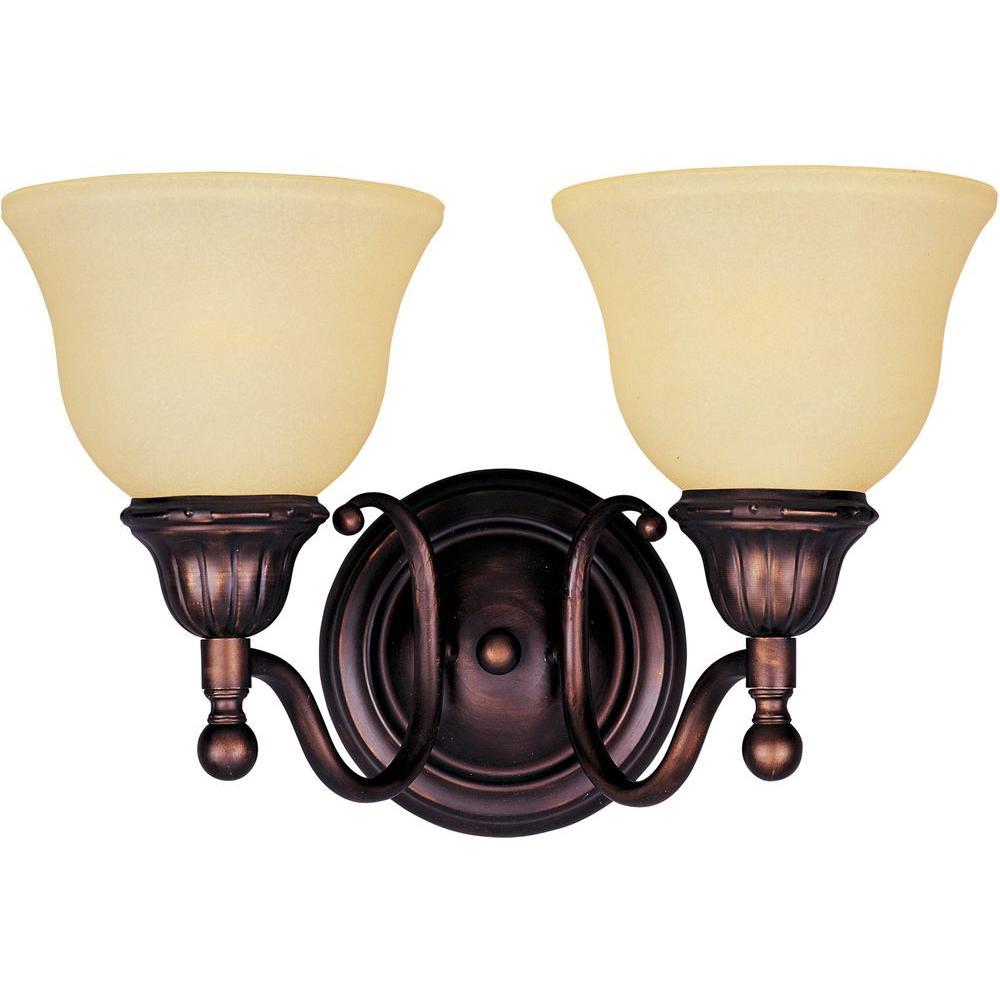Maxim Lighting Soho 2-Light Oil-Rubbed Bronze Bath Vanity Light