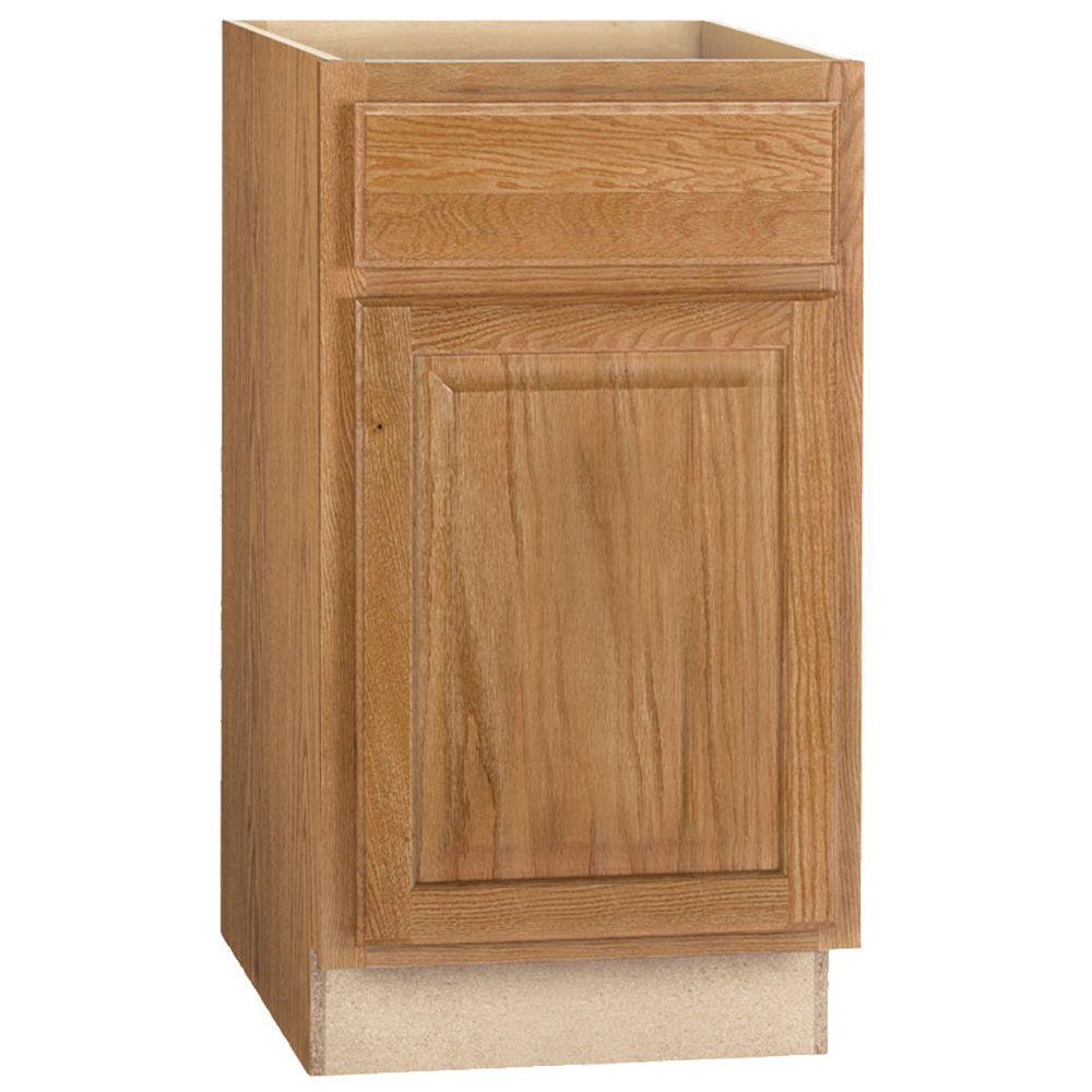 Medium Oak Kitchen: Hampton Bay Hampton Assembled 18x34.5x24 In. Base Kitchen