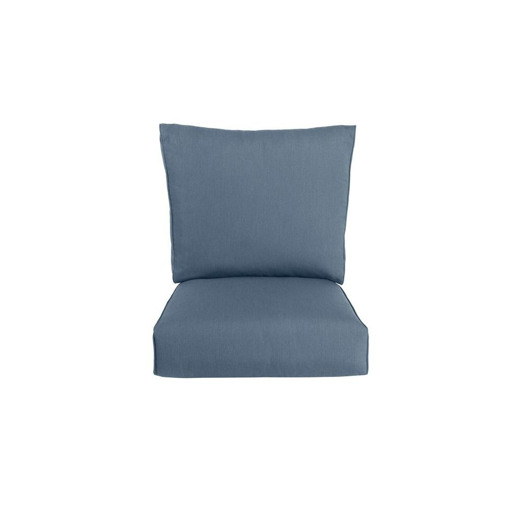 Highland Replacement Outdoor Motion Lounge Chair Cushion in Denim
