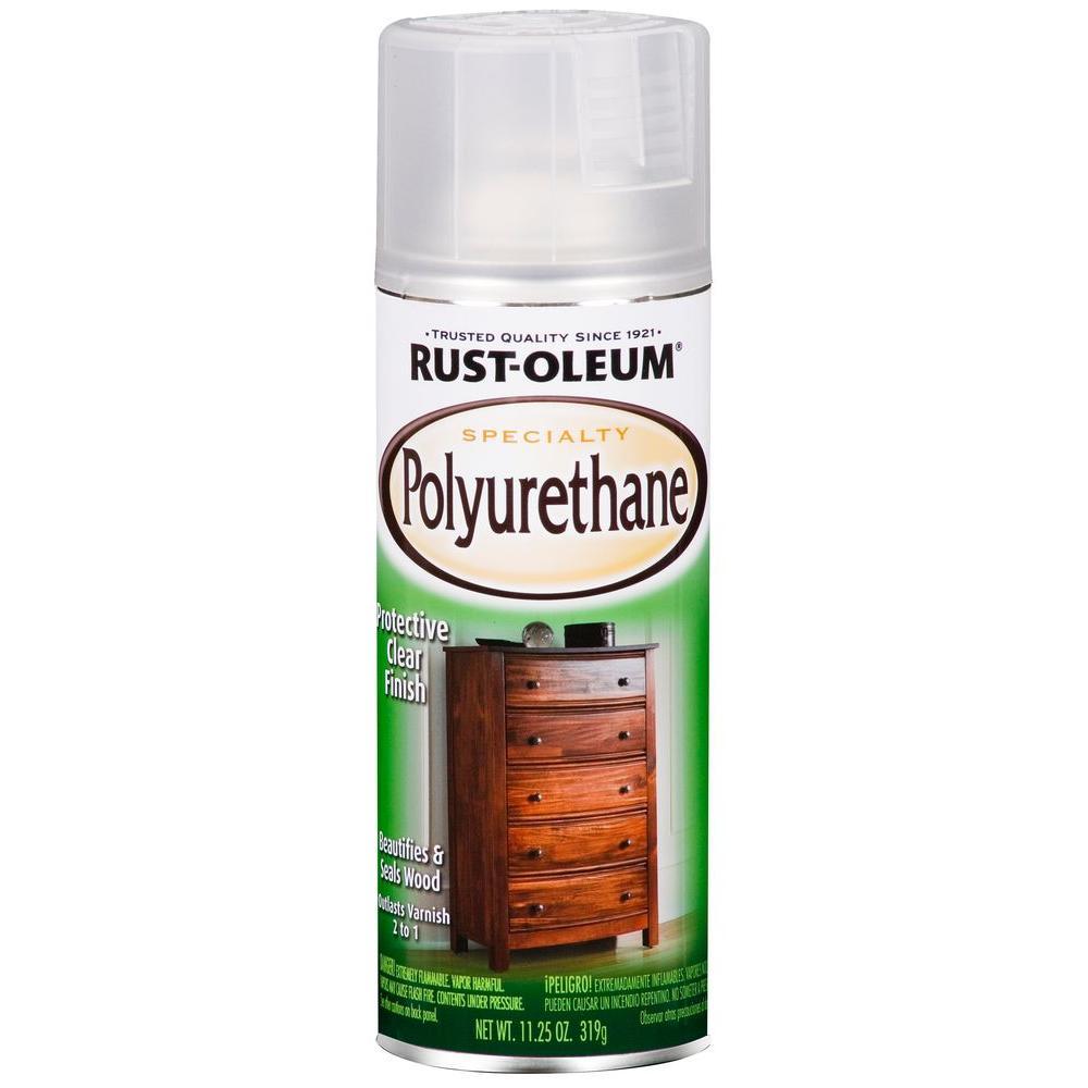Rust-Oleum Specialty 11.25 oz. Semi-Gloss Clear Polyurethane Spray (6-Pack)