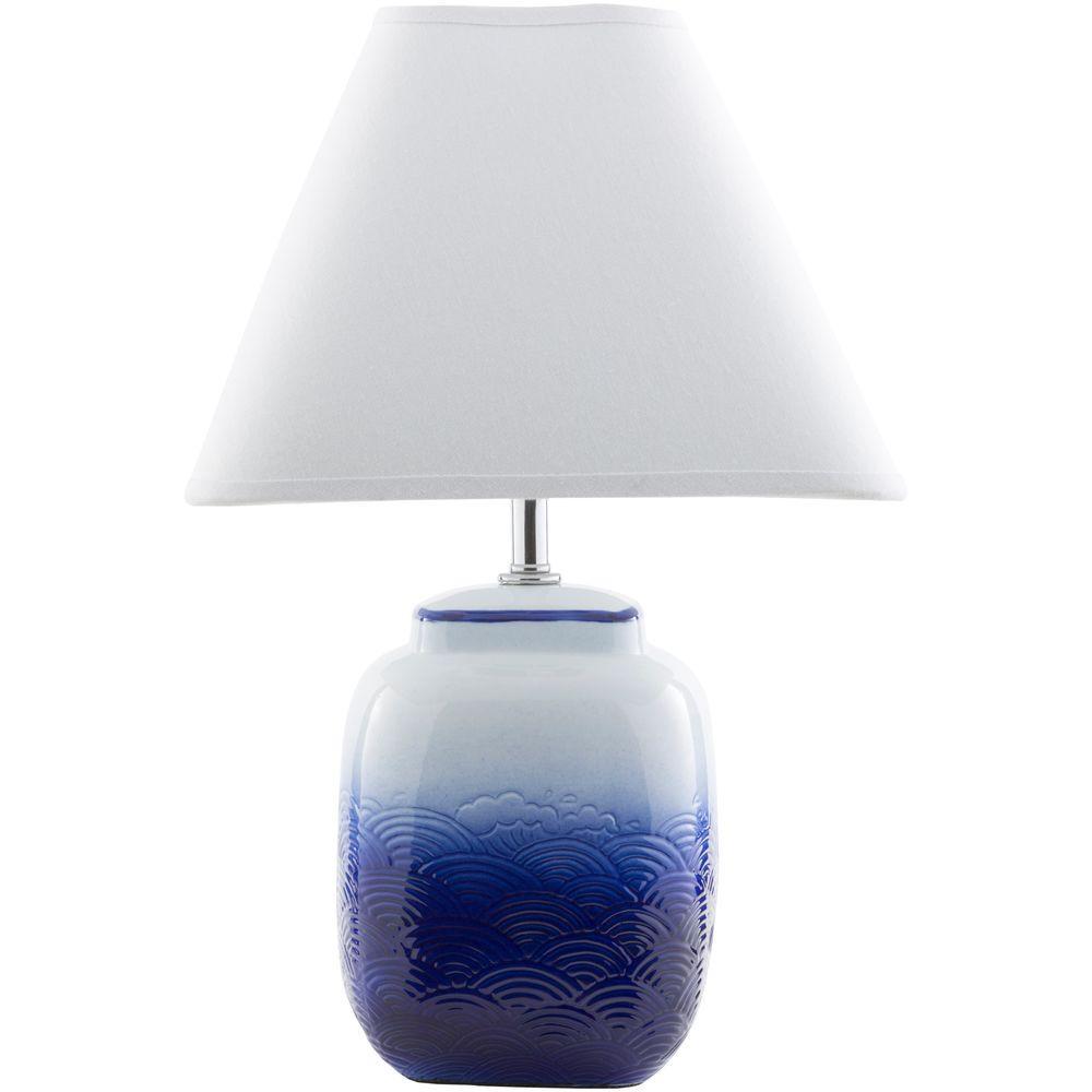 Altshuller18 in. Ombre Blue Indoor Table Lamp