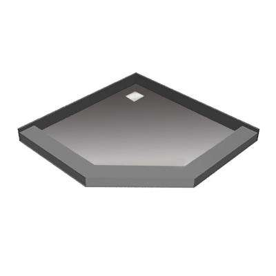 46 in. x 46 in. Neo-Angle Shower Base with Back Drain