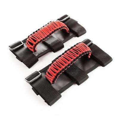 Red and Black Paracord Grab Handles