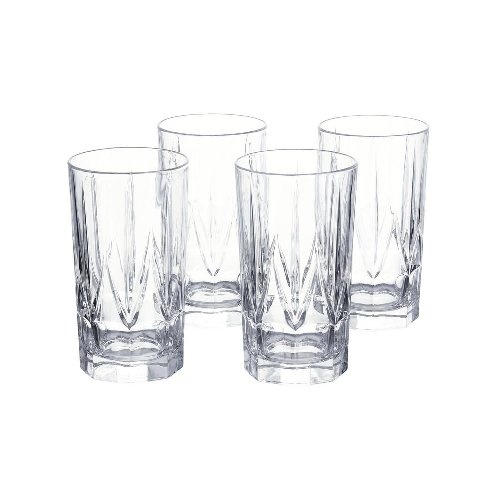 Home Decorators Collection Bellfast 17.5 fl. oz. Lead-Free Crystal Highball Glasses (Set of 4), Clear was $29.98 now $19.99 (33.0% off)