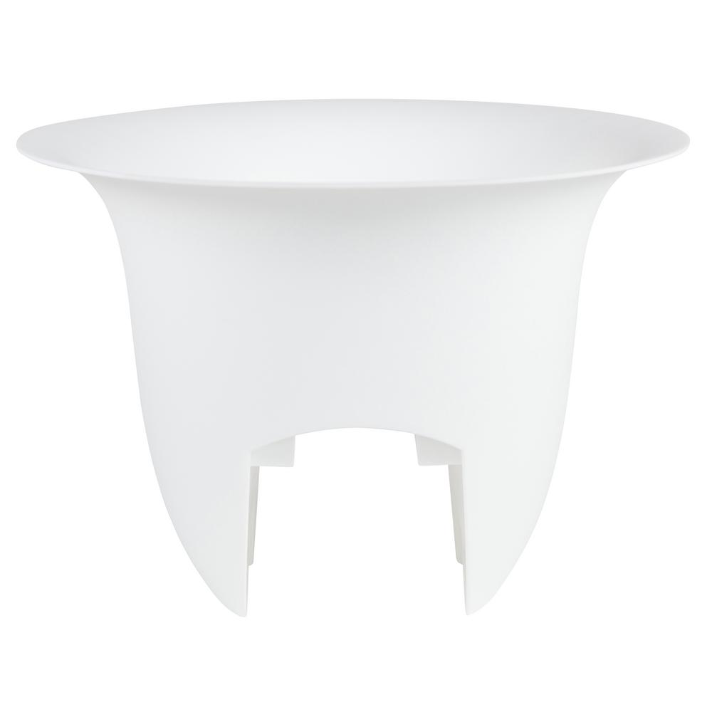 Bloem Modica 12 in. x 8.75 in. Casper White Plastic Deck Rail Planter