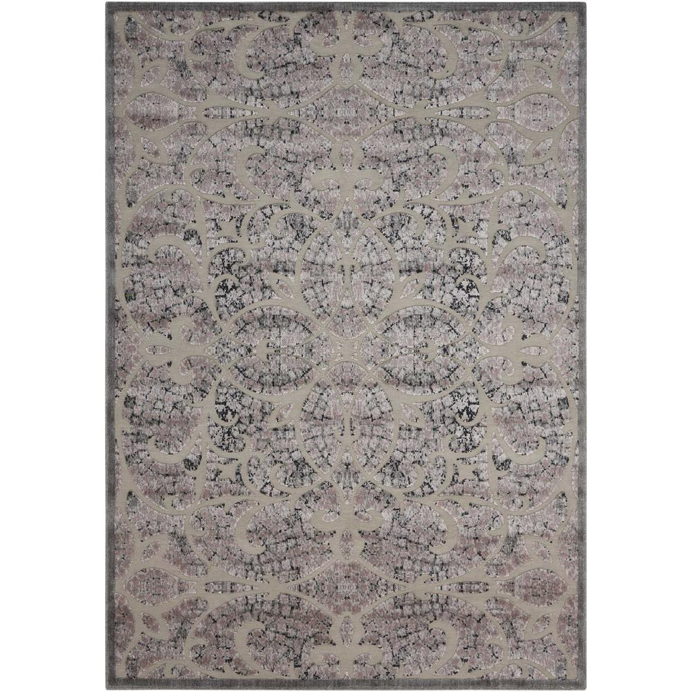 Nourison Graphic Illusions Grey 5 ft. x 7 ft. Area Rug