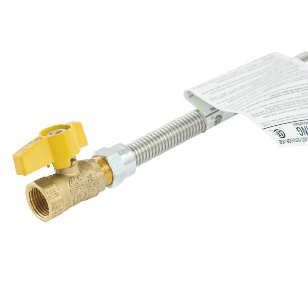 HomeFlex Dryer Connector 1//2 MIP x 1//2 FIP x 60 HFDC-45-60