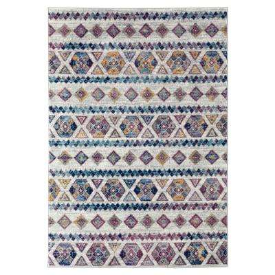 Alexis Blue Tribal 2 ft. x 3 ft. Accent Rug