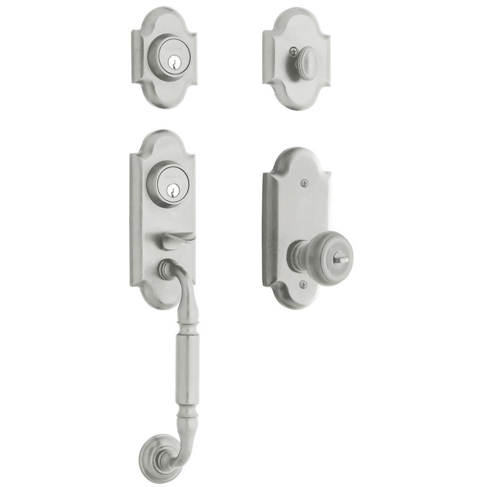 Ashton Satin Chrome Single Cylinder Door Handleset