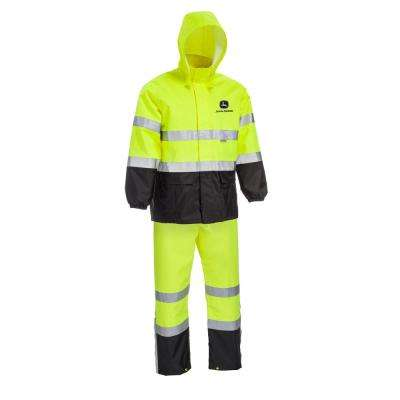 Size 2X-Large High Visibility ANSI Class III Rain Suit Jacket