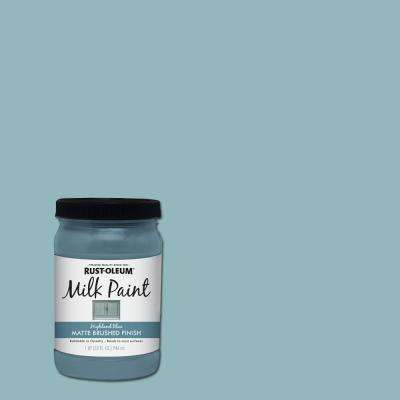 1 qt. Brush-On Craft Milk Paint, Highland Blue (2 Pack)