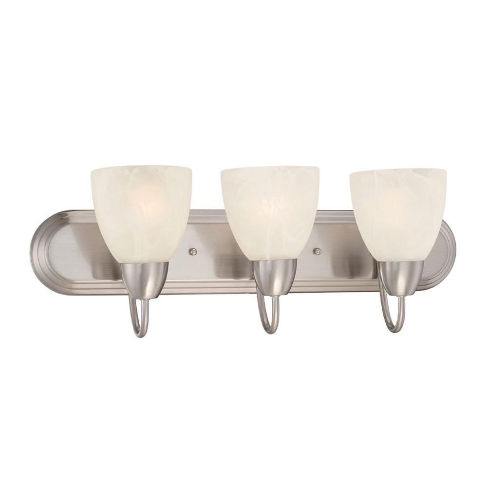 Torino 3-Light Brushed Nickel Bath Bar Light