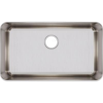 Lustertone Undermount Stainless Steel 31 in. Single Bowl Kitchen Sink with 7.5 in. Bowl