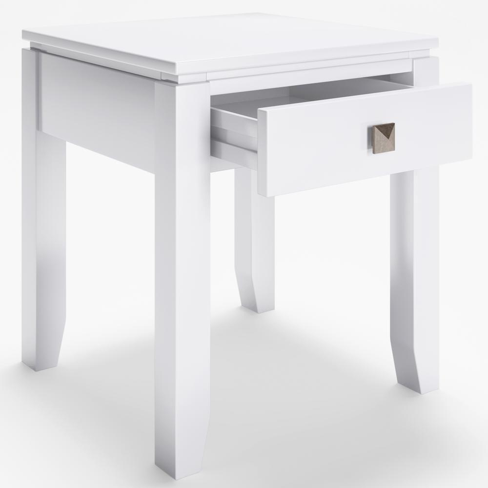Amazing Simpli Home Cosmopolitan 18 In Wide Solid Wood White Square Ibusinesslaw Wood Chair Design Ideas Ibusinesslaworg