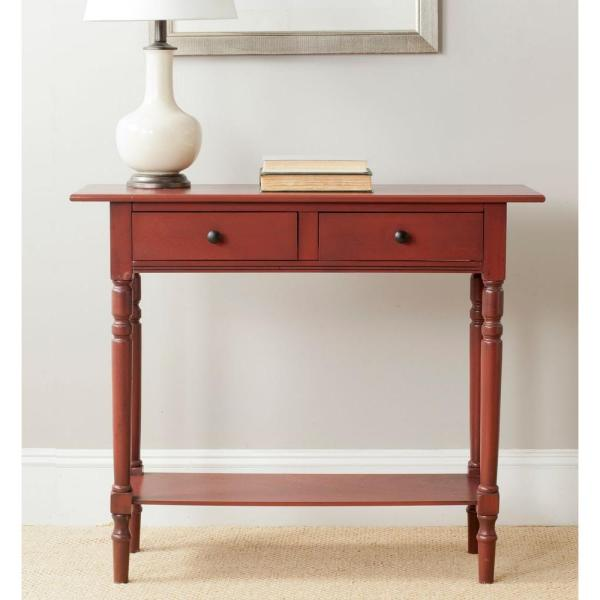 Rosemary Red Storage Console Table
