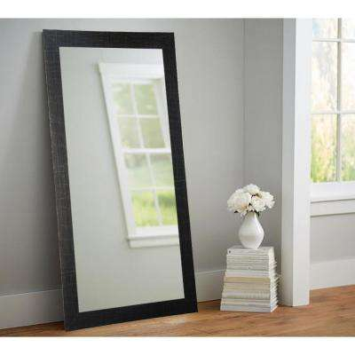 New Etched Black 32 in. x 65.5 in. Tall Mirror